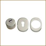 Защитная накладка на цилиндр врезная X16D-2 хром, матовая