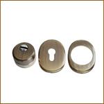 Защитная накладка на цилиндр врезная X16Q-2 бронза
